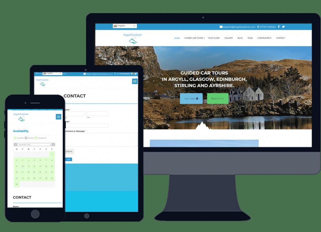 tourism website design in Argyll