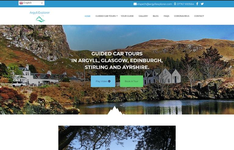 tourism web design in Argyll