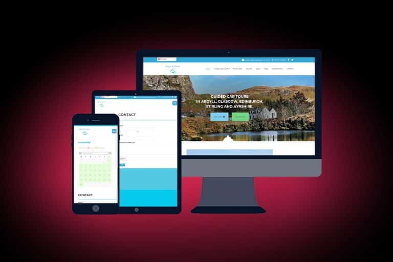 tourism website design in Argyll
