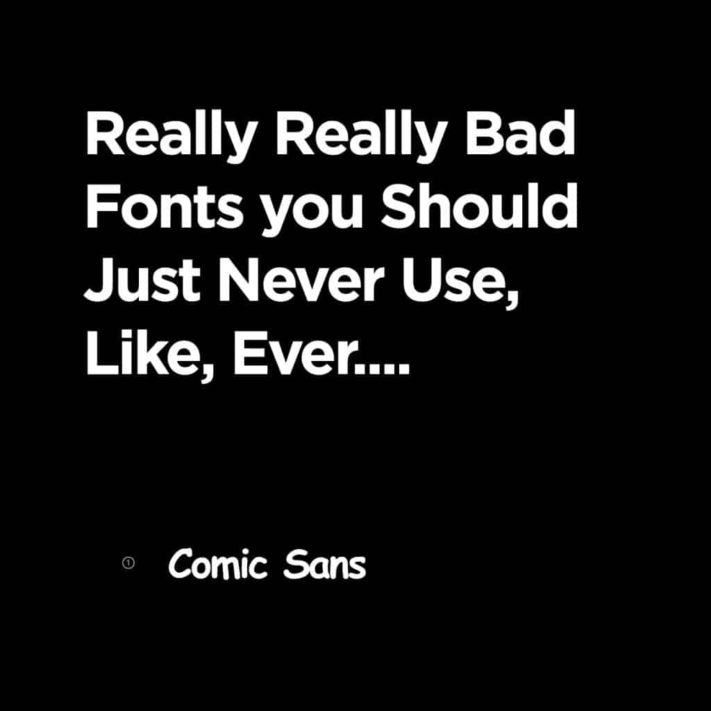 examples of comic sans