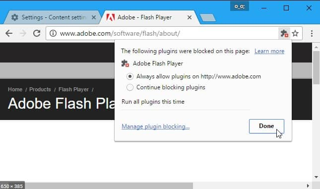 prepare for Flash websites not working