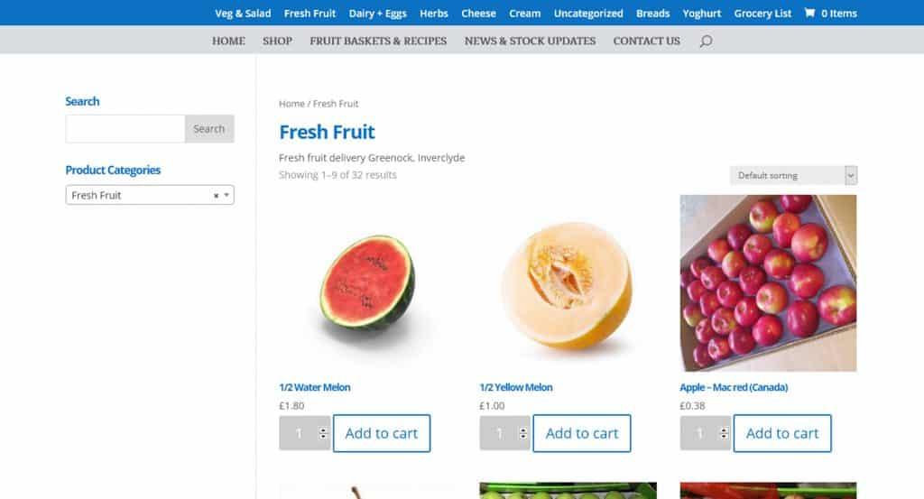 web design for E-Commerce website in Inverclyde
