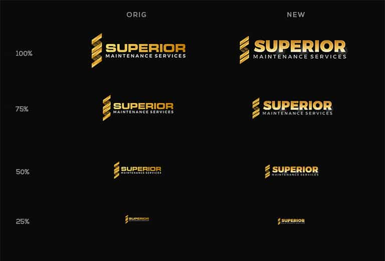 how to create a legible logo comparison