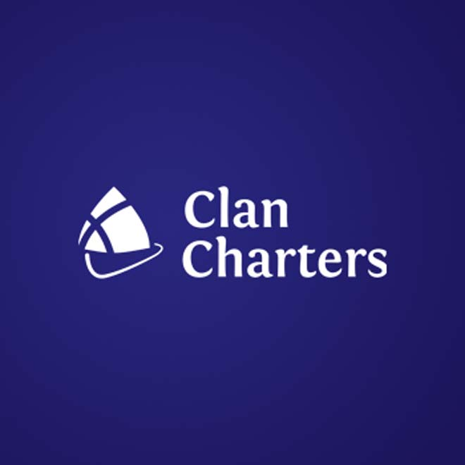 brand identity for Clan Charters