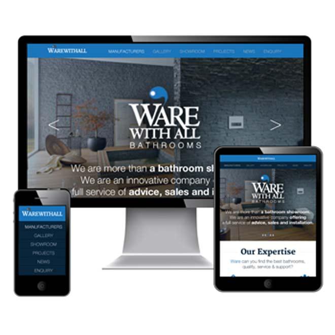 responsive website design for Greenock WareWithAll