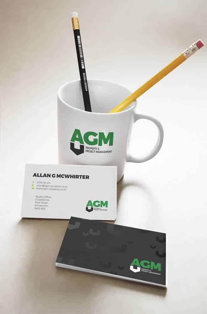 brand identity for AGM Construction