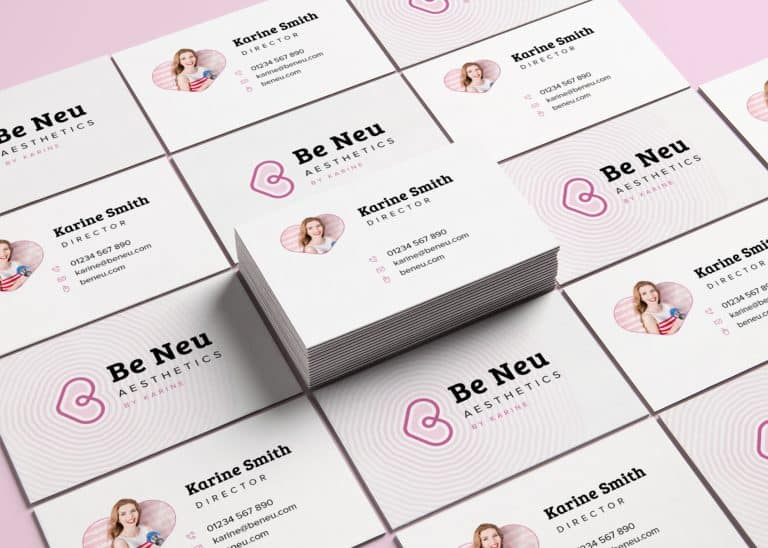 business card design for beauty business