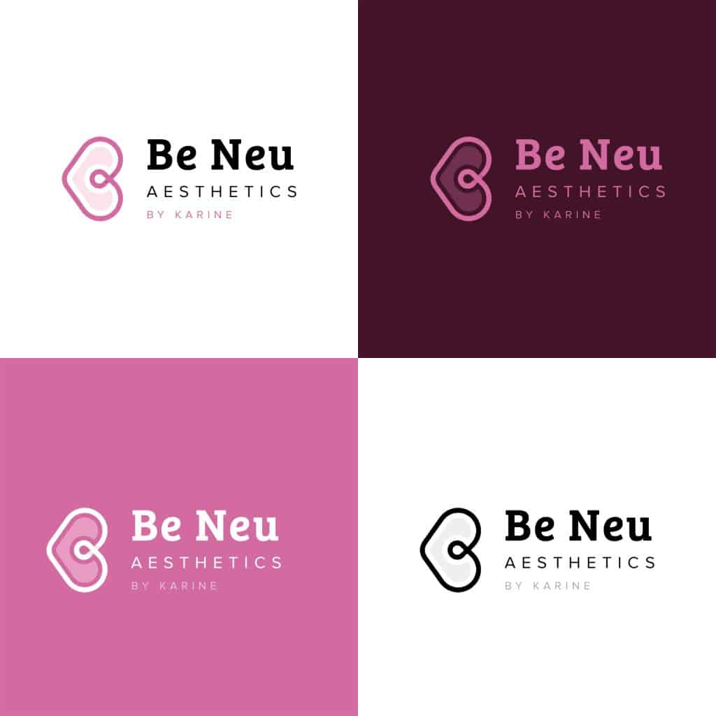 cute logo concept for beauty and fashion business