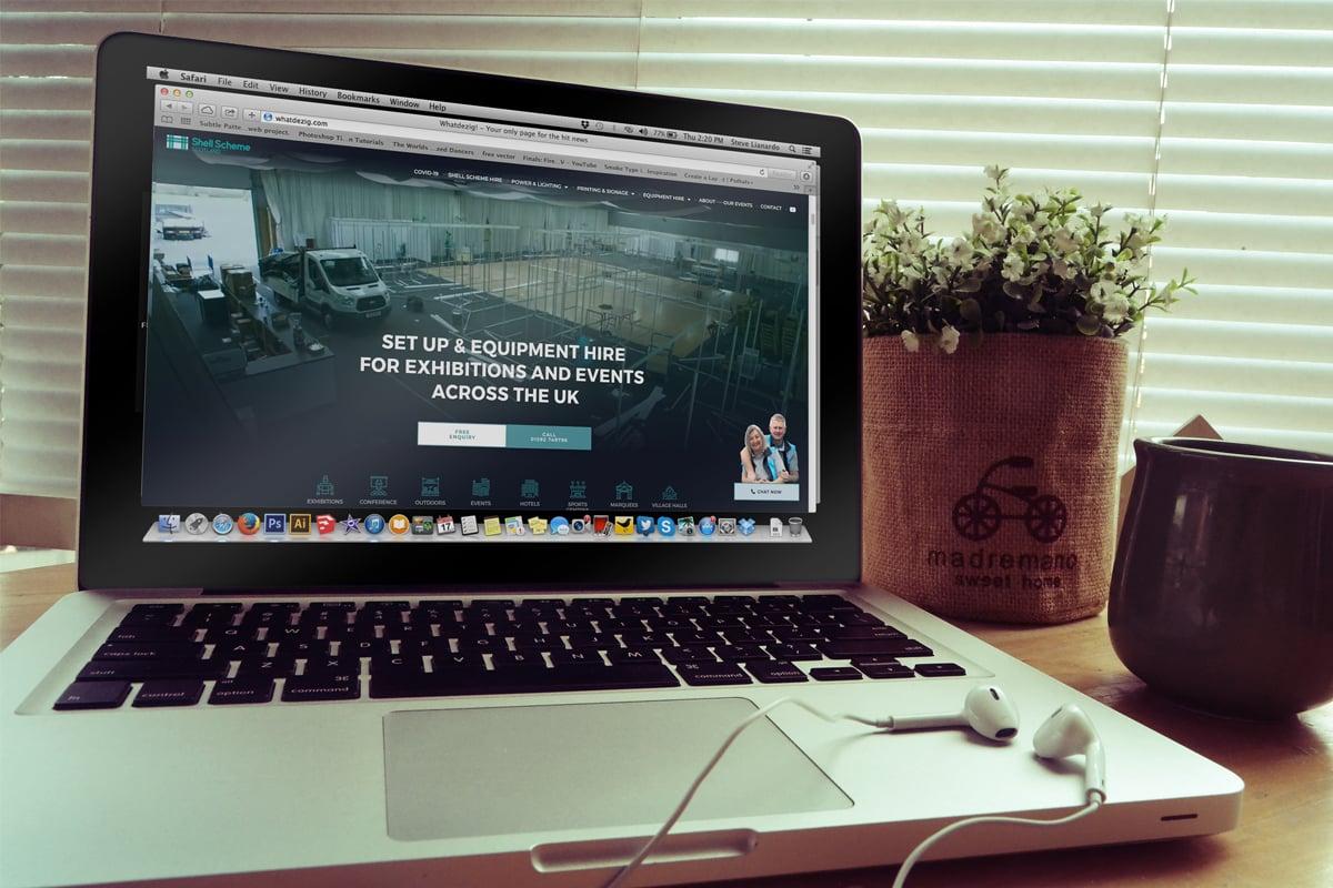 website design for events industry business