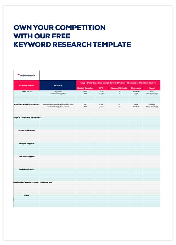 Free keyword research template download