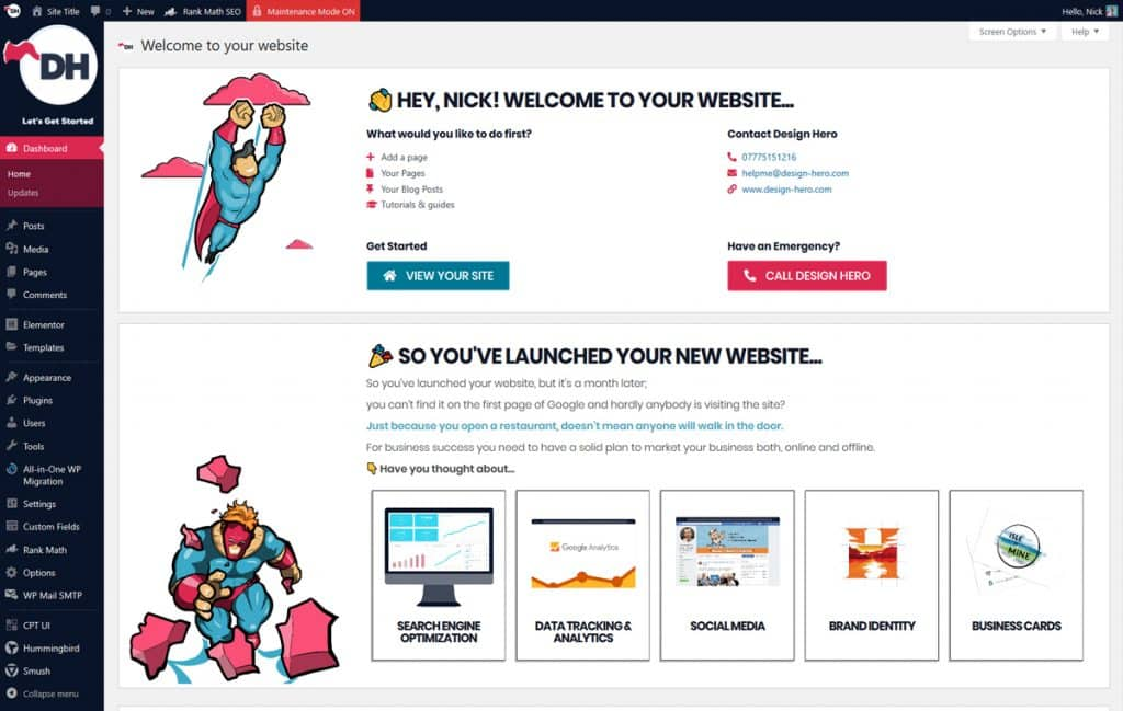 How to use the WordPress dashboard