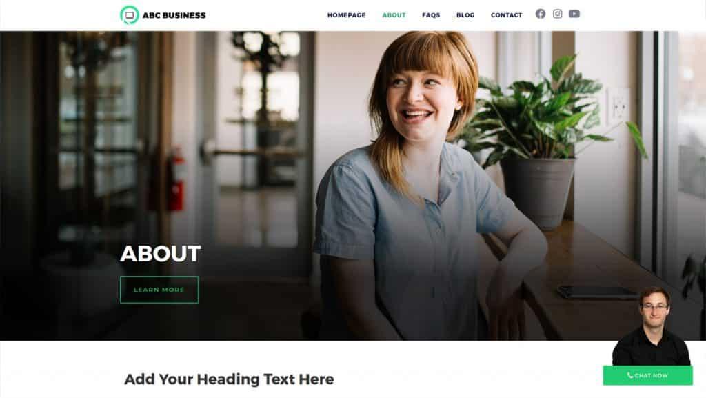 front end of Worpdress website