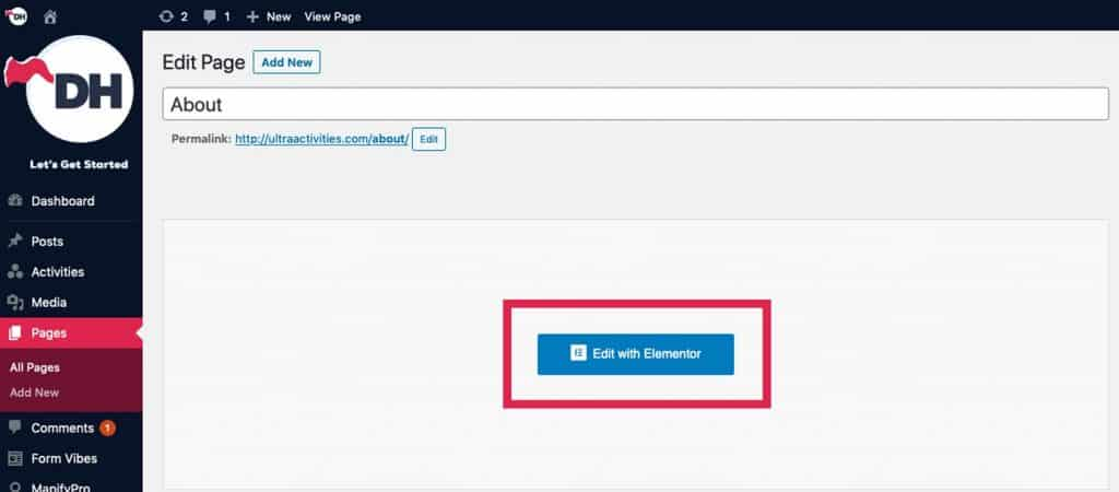 How to update your posts using Elementor page builder
