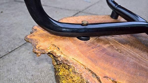 recessed legs for garden log stool
