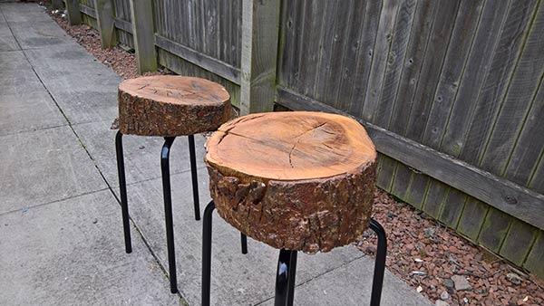 Ikea Log Stool 1