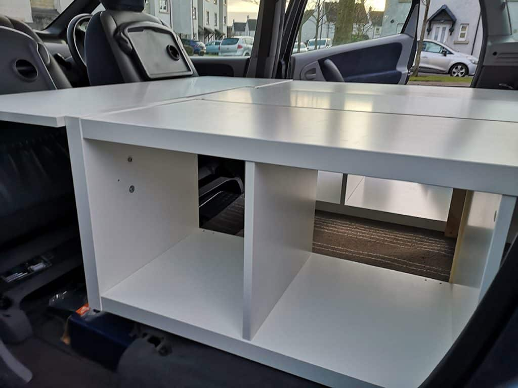 ikea underbed storage for campervan conversion