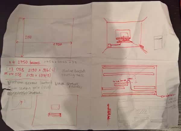 planning DIY media wall project