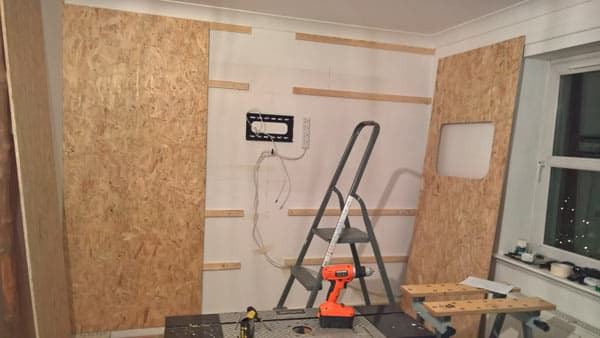 fixing osb panels to wall battens