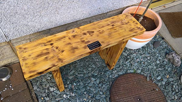 DIY timber antique bench