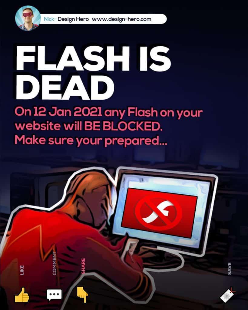 flash websites not working after Jan 2021