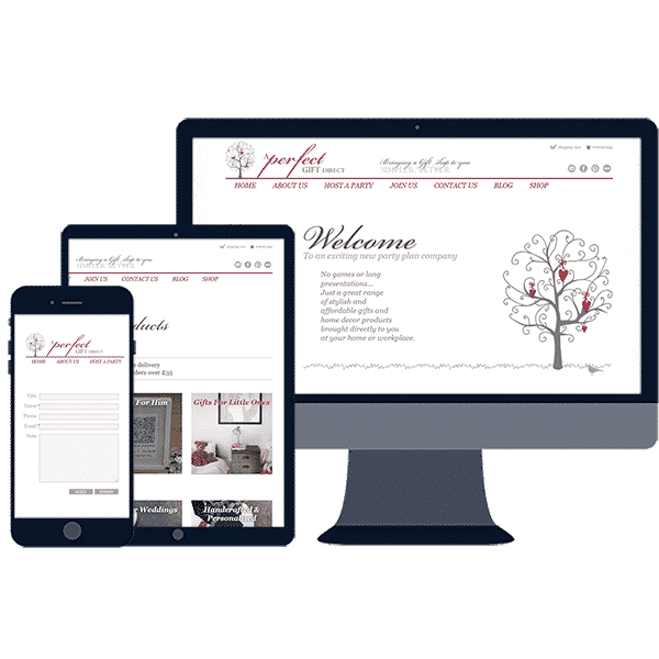 responsive website design for online ecommerce gift shop business