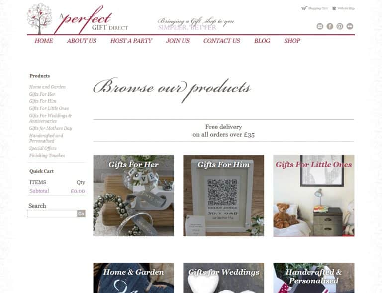 an online shop with a full suite of features