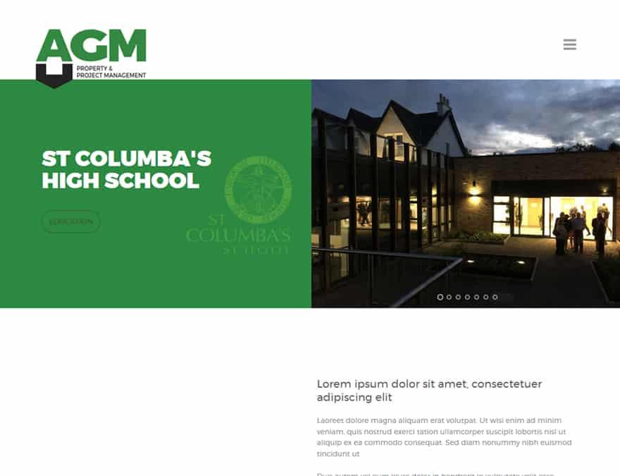 portfolio for AGM Consutrction website