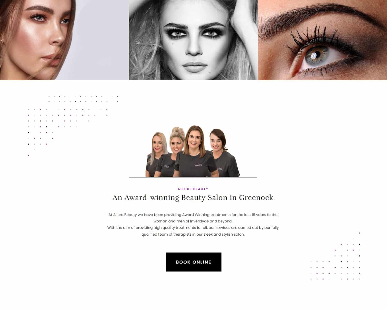 design of booking website in Greenock