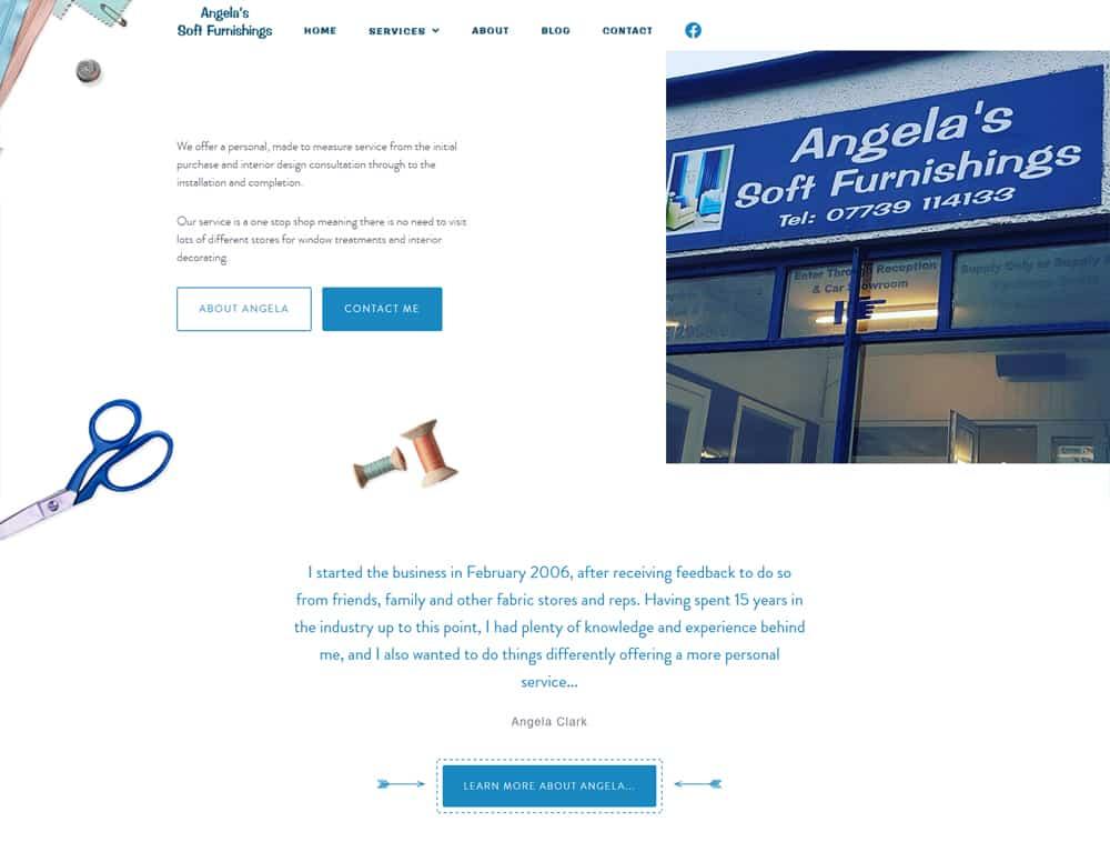 hero section on business website design