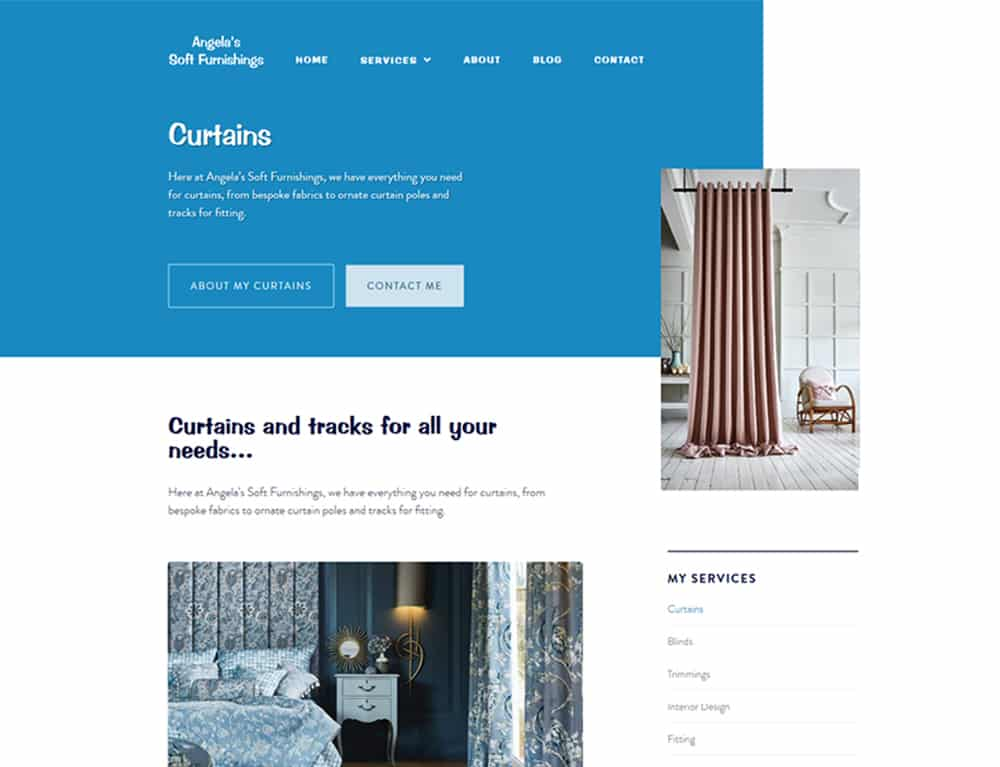 web design on homepage for Greenock business