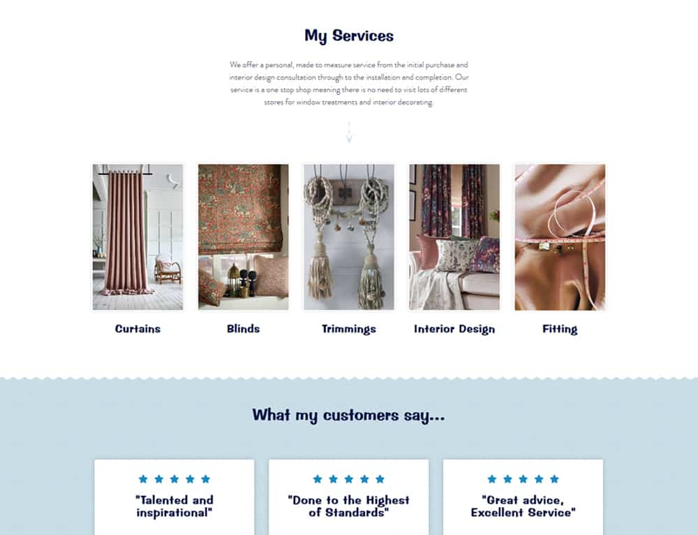 service thumbnails for business website