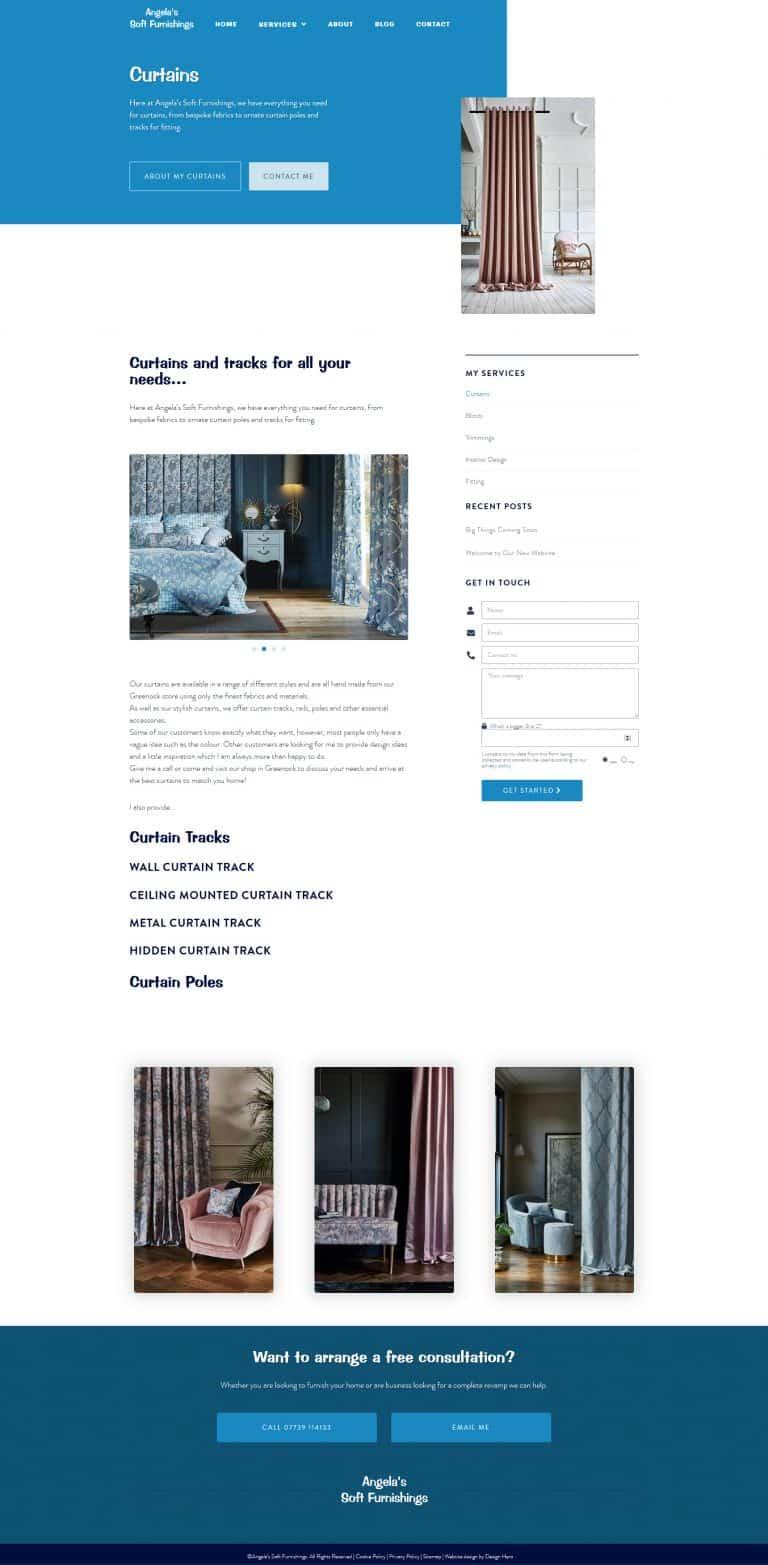 website design for furniture business in Greenock
