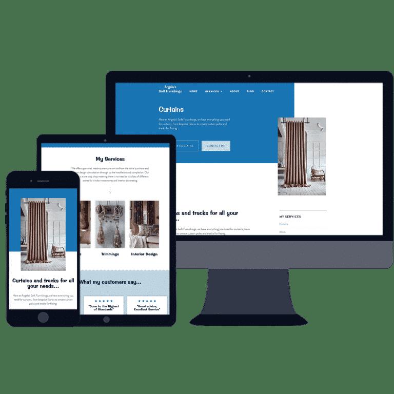 mobile responsive website design for furniture shop