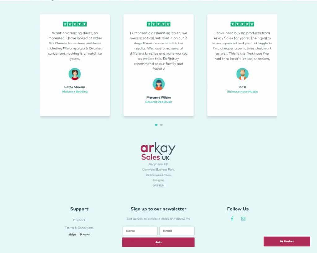webdesign for online shop