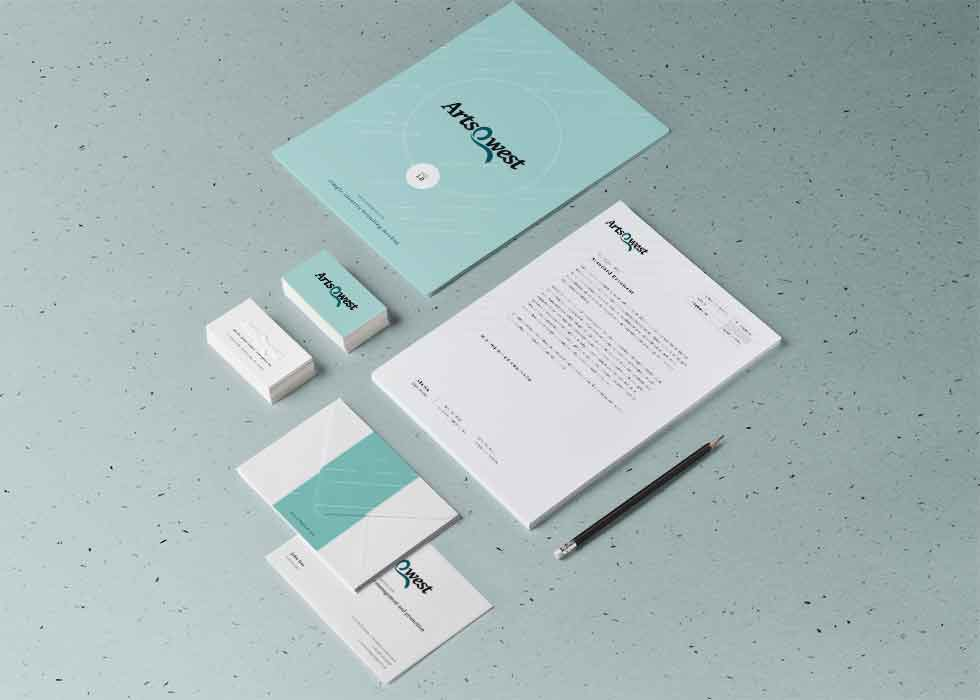 Branded business stationery for Artsqwest