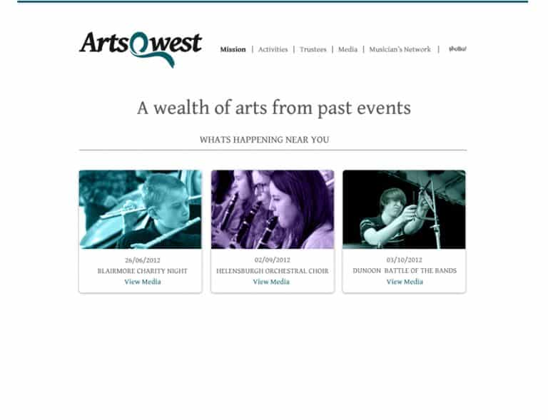 Design of gallery page for members website