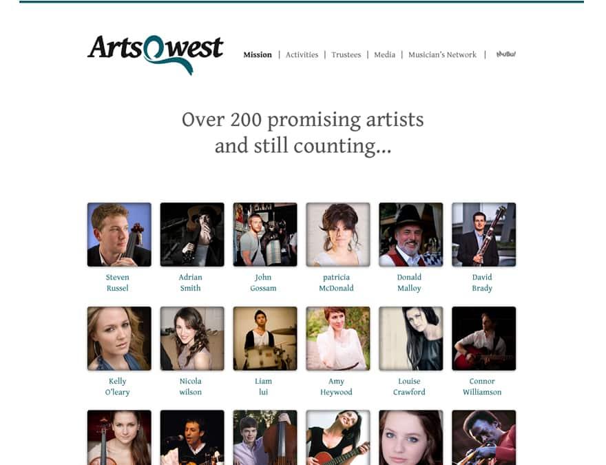 Design of musicians profile website