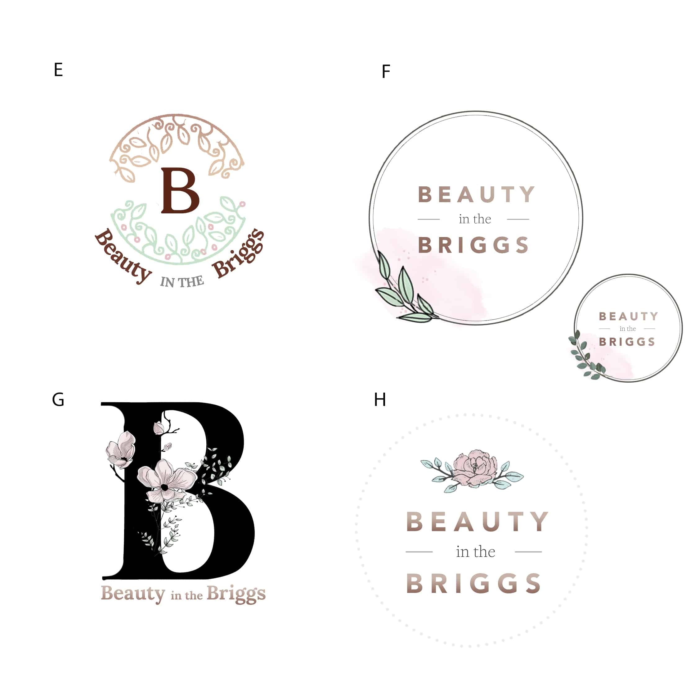 design of logo concepts for beauty therapist in Bishopbriggs