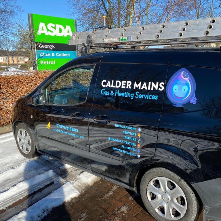 vehicle wrap for Calder Mains Gas