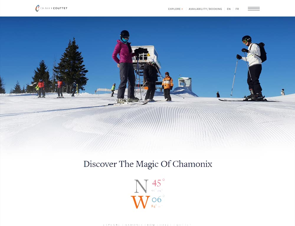 An online booking website