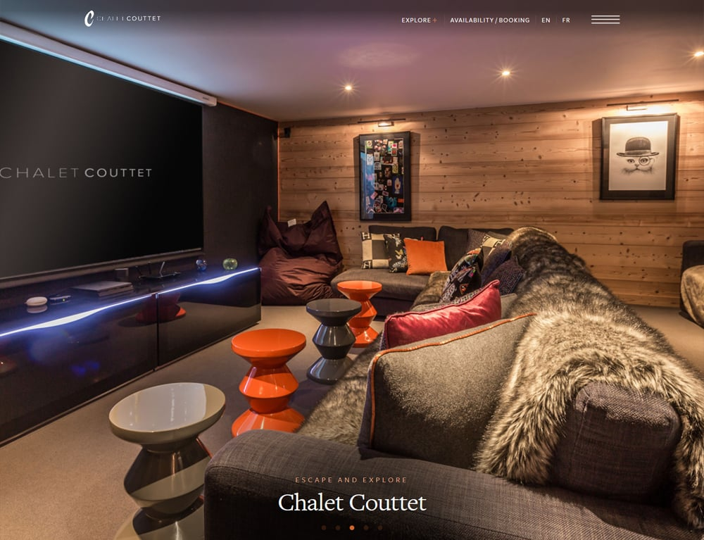 slideshow gallery for online booking website