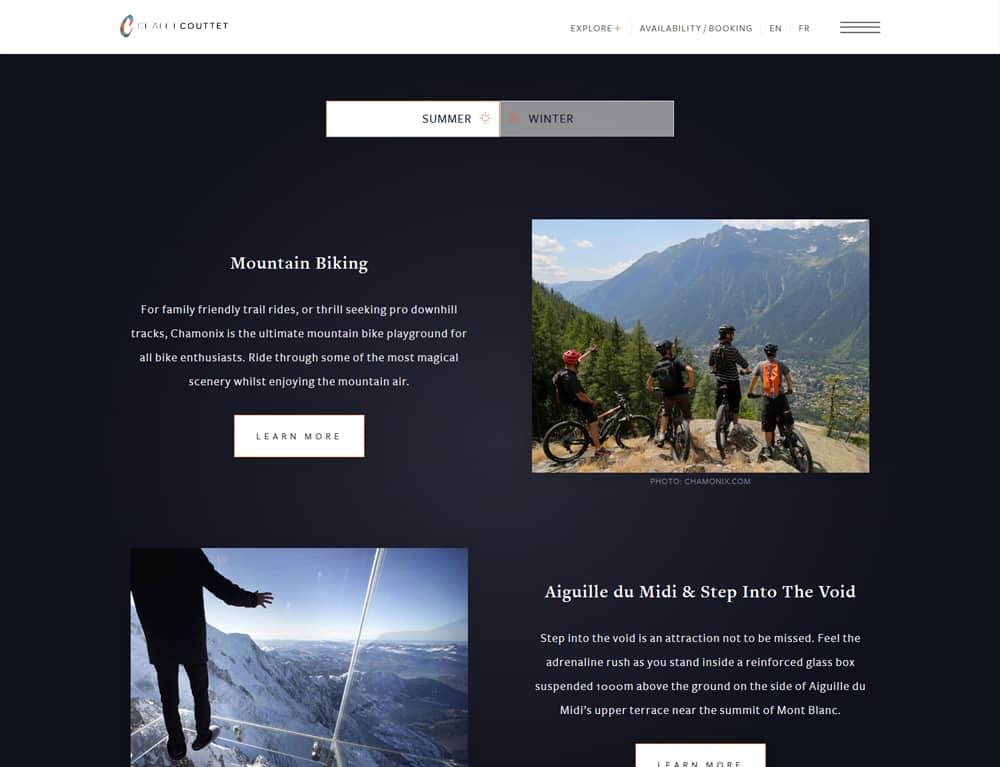 Design of online booking website
