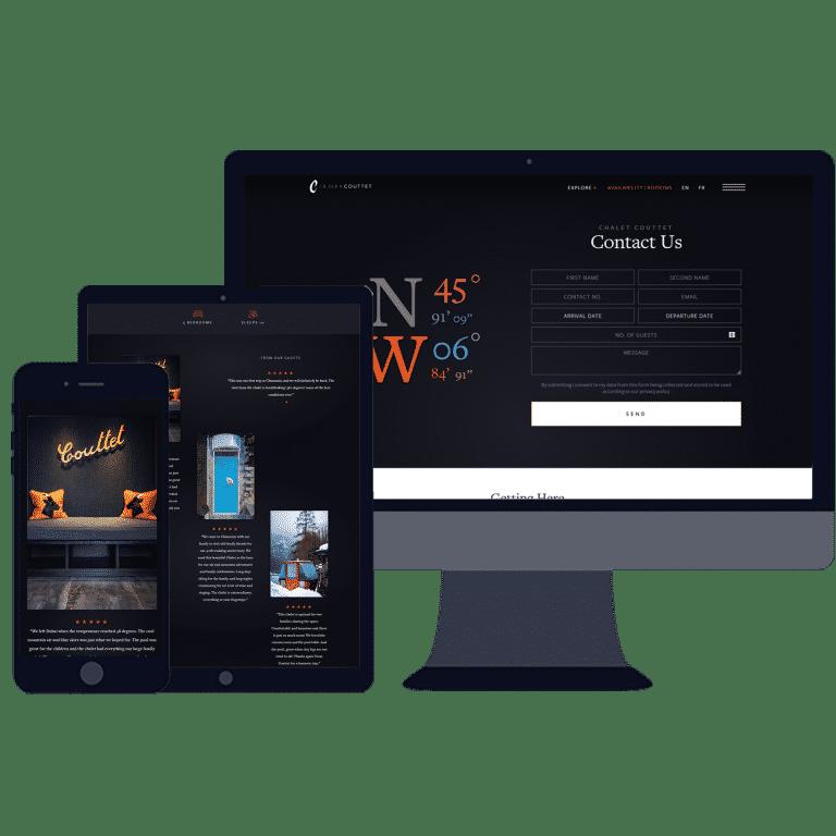 mobile responsive online booking website