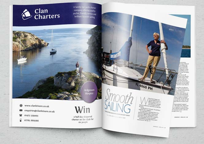 brochure design for clan charters