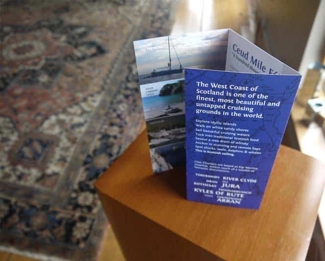 Design of flyers and brochures for Clan Charters