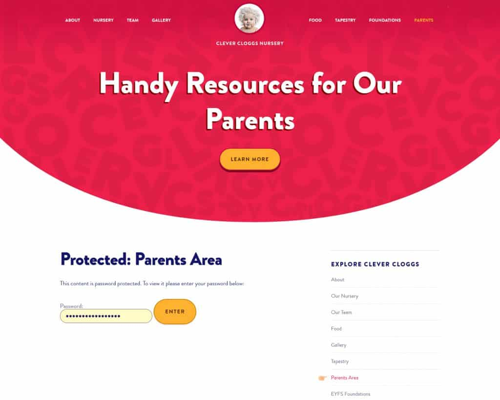 websites for childcare