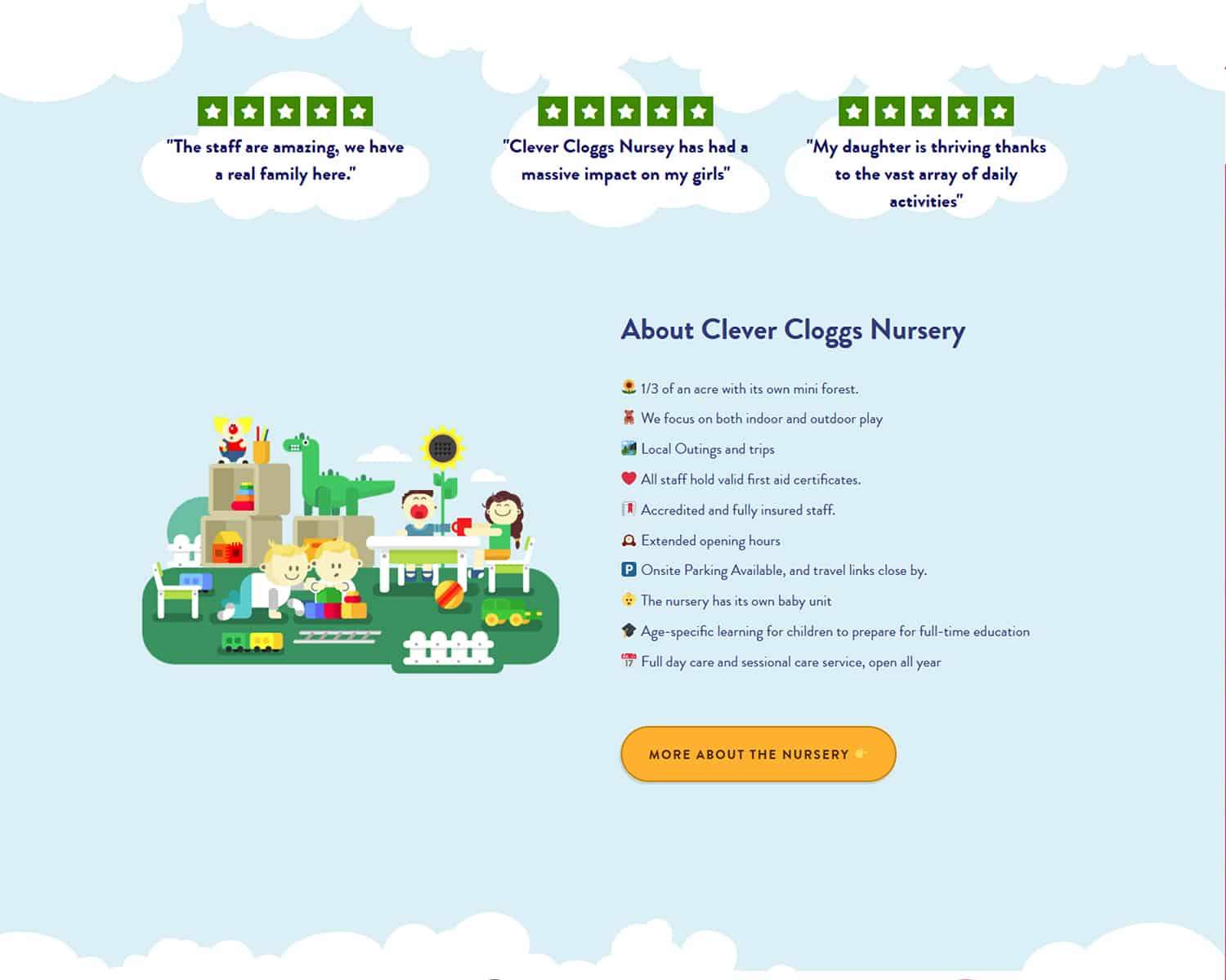 web design for childcare industry