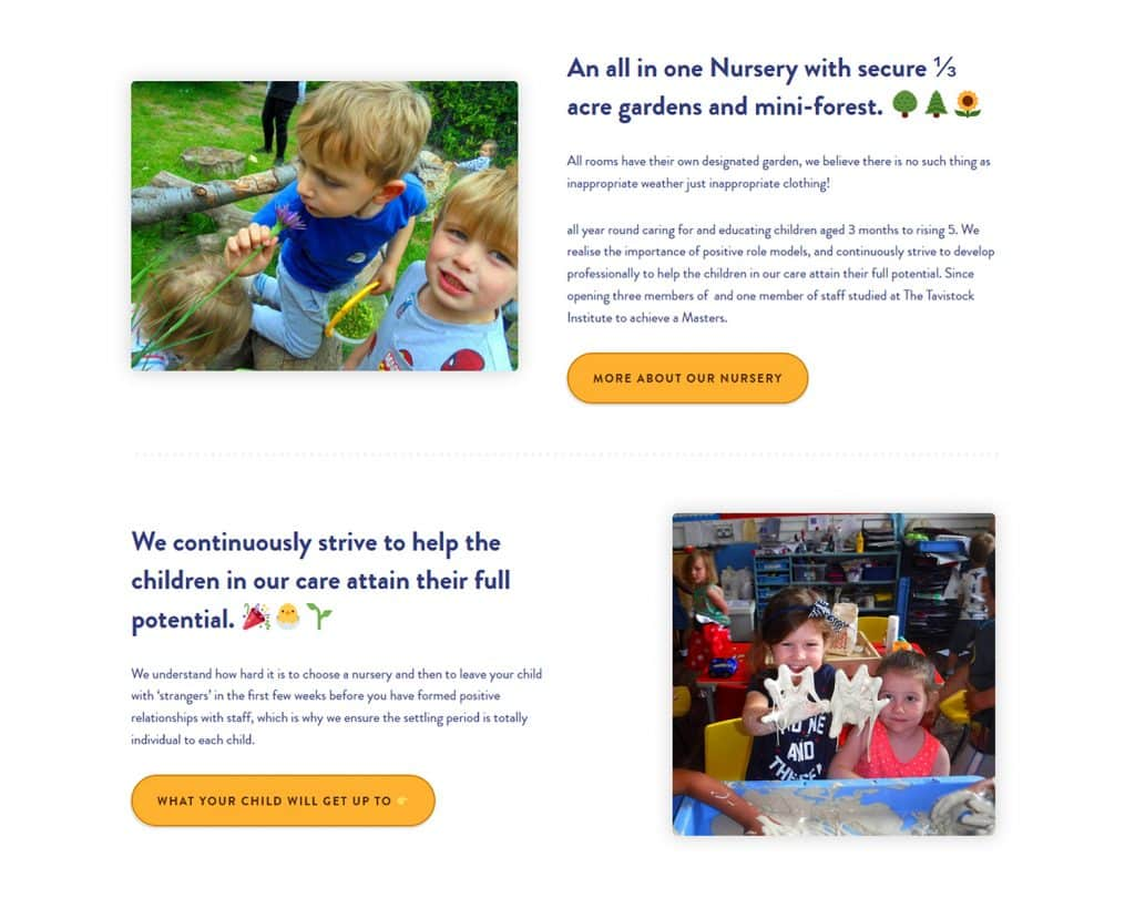 website for nursery