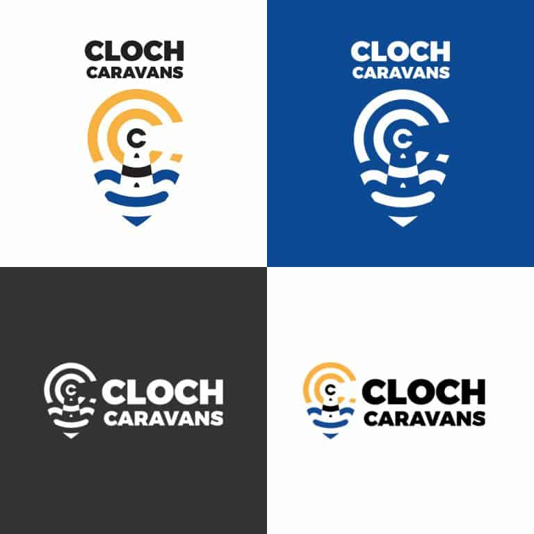 design of brand identity for Cloch Caravans