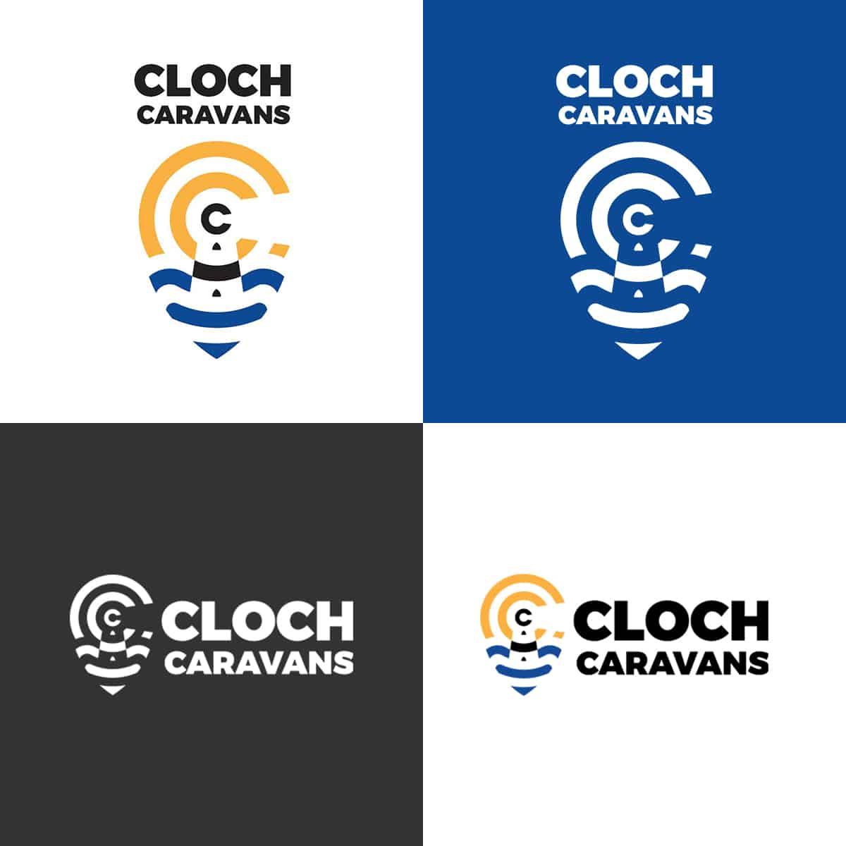 design of brand identity for Cloch Caravans
